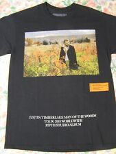 Justin Timberlake Man of the Woods 2018 T-Shirt Heron Preston Black Size M-L