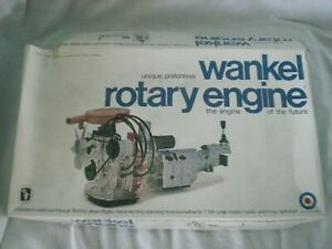 Entex Wankel Rotary Engine 1/5 scale plastic model kit from 1973!