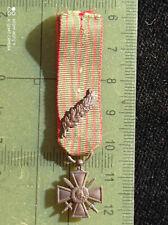 B6D) Médaille militaire croix de guerre 1914 1918 Réduction french medal