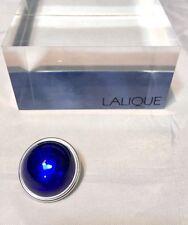 Lalique Cabochon Broche Bleu Pin / brooch blue Spilla blu NEW