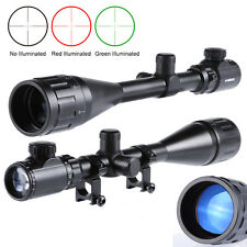 New 6-24x50 AOEG Red Green Mil-dot Illuminated Sight Rifle Scope