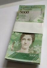 More details for 100 x venezuela 5000 (5,000) bolivares, 2017,unc banknote bundle