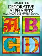 Decorative Alphabets Stained Glass Pattern Book, Books