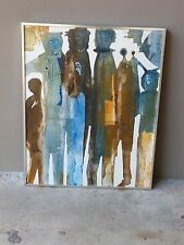 SUPER COOL 70'S GREGORY HAWTHORNE FIGURATIVE PAINTING