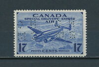 CANADA  OCE2 MNH, OHMS Perfin Special Delivery, 1943