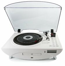 GPO Jive 3 Speed Record Player with CD and MP3 Player & Remote Control - White