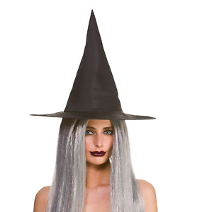 Adult Ladies Black 43cm Witch Hat Halloween Fancy Dress Costume Accessory