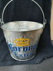 NEW Corona Extra Beer Bottle Metal Ice Bucket Handle Man Cave Home Bar New