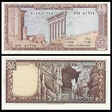 Lebanon 1 Livre, 1980, P-61, UNC