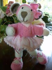 Tumbelina Ballet Bear + Clothes -  Easy Soft Toy Knitting Pattern