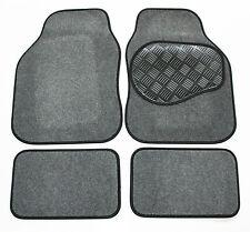 Toyota Corolla [Auto] 92-97 Grey & Black Carpet Car Mats - Rubber Heel Pad