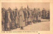 KAISER ZEICHNET SOLDATEN EISERNEN GERMANY WW1 MILITARY FELDPOST POSTCARD 1916