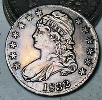 1832 Capped Bust Half Dollar 50C High Grade Choice Good Silver US Coin CC6170