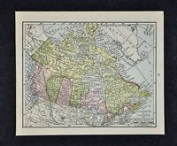 1917 McNally Map  Canada Ontario Quebec British Columbia Manitoba Ottawa Toronto