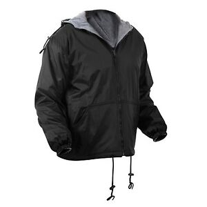 Rothco 8263 Reversible Lined Jacket with Hood - Black or Navy Blue