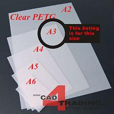 1mm Cristallo Chiaro PETG casa delle bambole vetri in plastica Art Craft Hobby Dimensioni foglio a3