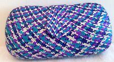 Straw Sand Clutch Bag Purse Handbag NEW Lady Womens Blue Purple Chain Only 1