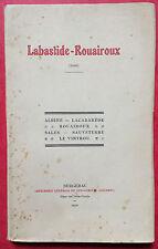 GAUTRAND. LABASTIDE-ROUAIROUX (TARN). 1930. EDITION ORIGINALE RARE.