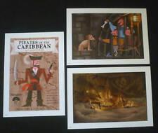 Set of 3 Disney Disneyland Pirates of the Caribbean Prints Art Pirate Ship