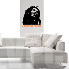 WALL STICKERS ADESIVO PARETE BOB MARLEY FREEDOM CAMERA