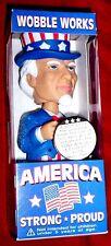 Uncle Sam USA Funko 9/11 Sticker Nodder Bobble Head Figure Collectible New 2002