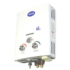 AQUAH OUTDOOR PORTABLE PROPANE TANKLESS GAS WATER HEATER 6L UP TO 2.0 GPM