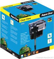 Aqua One A1-29027 Clear View 300 Hang On Filter 300L/h for Aquariums, Fish Tanks