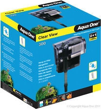 Aqua One A1-29027 Clear View 300 Hang On Filter 300L/h for Aquariums, Fish Tanks