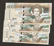 2014 / 15 East Caribbean $100 Dollar Uncirculated P-55 ( New Security Features )