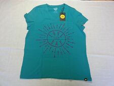 """Life is Good Women's Tee """"Love this day"""" in Teal Blue - Large - NWT R$24.00"""
