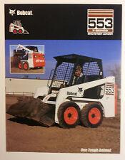 Bobcat 553 F-Series Skid-Steer Loader Dealership Ad Flyer - Must See !!