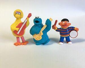 Vintage 1982 Muppets Sesame Street Figures Cookie Monster Big Bird Ernie