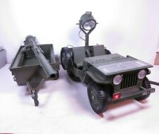 Vintage GI Joe Jeep Rocket Launcher Search Light Trailer