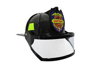 Adult Child Fire Chief Firefighter Fireman Helmet with Visor Costume
