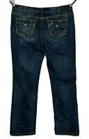 Silver Jeans Suki Mid Slim Boot Measures 20x32 Tag 20x33 Bid Stitch Stretch
