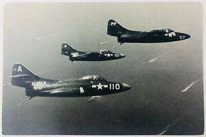 Vintage Grumman F9F-2 Panther Fighter RPPC U.S. Navy Photo Postcard
