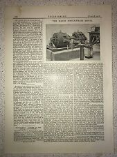 The Haigh Single Phase Motor: 1912 Engineering Magazine Print