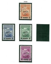 Timor 1946 - Airmail Portuguese Colonial Empire ovpt x 4 stamps used