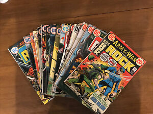 DC Comics SGT Rock 15 Joe Kubert Cover Comic Book Lot 1972-1975