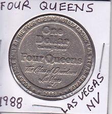 CASINO DOLLAR TOKEN CHIP COIN GAMBLING - 1988 FOUR QUEENS LAS VEGAS, NEVADA
