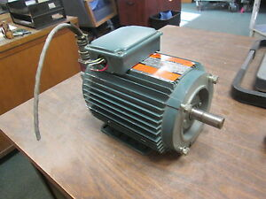 Reliance AC Motor w/ Encoder P14A5803P-AC 1HP 1736RPM FR: WC143TC 230/460V Used