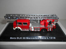 MERCEDES-BENZ L 1519 METZ DLK 30 FIRE POMPIERS BOMBEROS DeAGOSTINI ATLAS 1:72