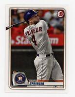 2020 Bowman GEORGE SPRINGER Rare BASE BASEBALL CARD #41 Houston Astros