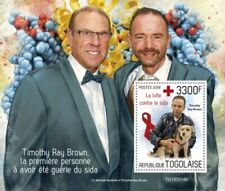 Togo - 2019 Timothy Ray Brown AIDS Cure - Stamp Souvenir Sheet - TG190314b