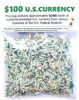 Shredded U.S. Currency $100 Authentic Federal Reserve Money Confetti CASH