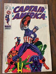 Marvel Comics CAPTAIN AMERICA # 111 VG JIM STERANKO Art MADAME HYDRA Bucky