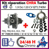 CHRA Cartridge TURBO GARRETT GT1749V VOLVO S40 1.9 DCi 120 F9Q 708639 AVEC JOINT