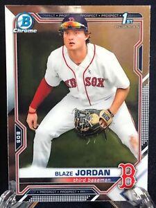 Blaze Jordan 2021 Bowman Chrome Baseball 1st Bowman Rookie Card Boston Red Sox