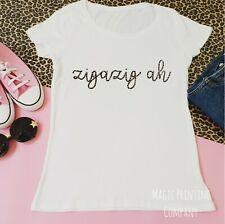 Zigazig Ah Spice Girls T-shirt Girl Band 90s Top Leopard Print Tour Ladies GIFT