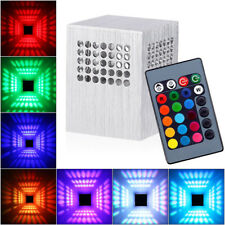 3W RGB LED Wandleuchte Wandlampe Effektlicht Deckenlampe mit Fernbedienung